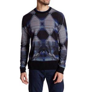 NWT Robert Graham Polar Desert Merino Wool Sweater